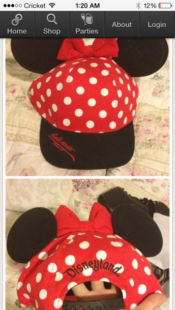 hat minnie mouse ears polka dots