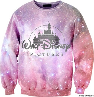 sweater galaxy print disney