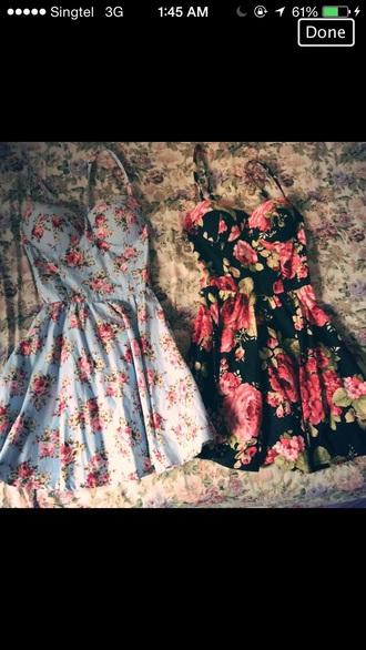 dress floral black dress
