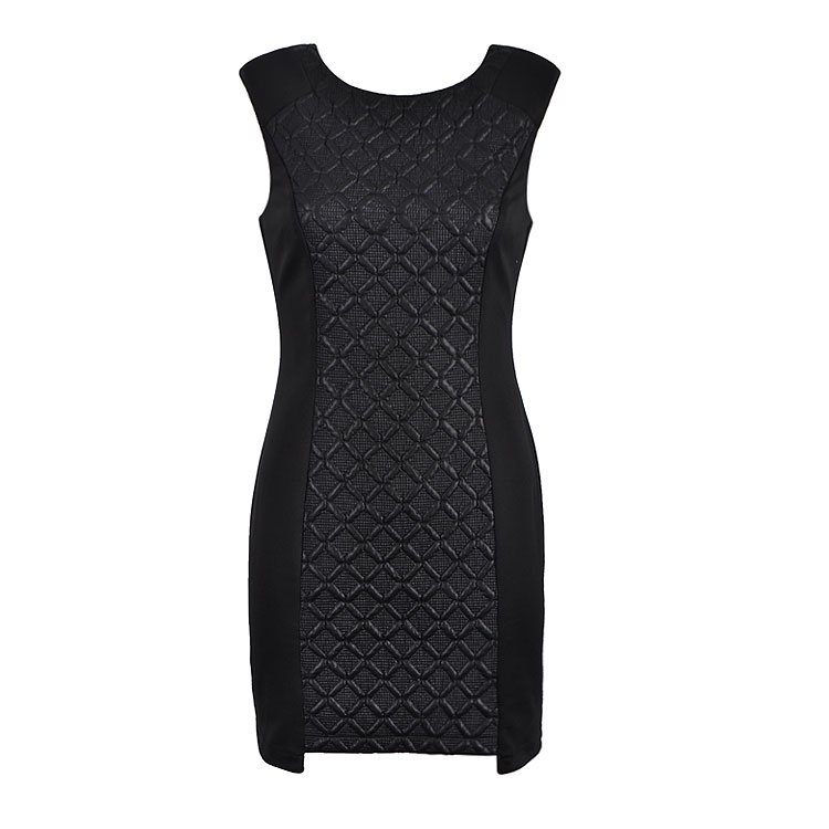QUILTED PANEL DRESS - Ally Fashion