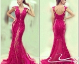 New sexy evening dress,elegant prom dress,mermaid prom gown,lace evening gown
