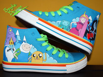 shoes adventure time hightop vans white colorful colorful sneakers