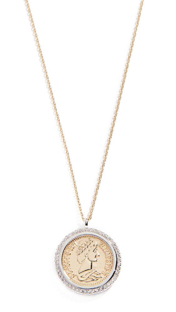Shashi Pendant Coin Necklace in gold / silver
