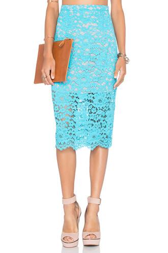skirt layered blue