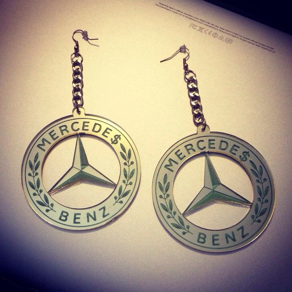jewels mercedes benz earrings bling