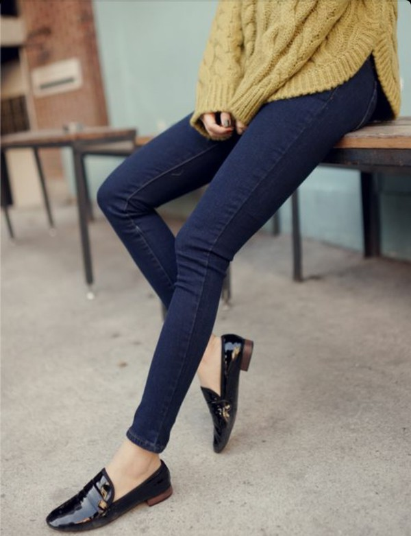 shoes preppy yellow top slippers top fall outfits loafers