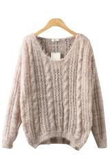 Neck long sleeve loose sweater