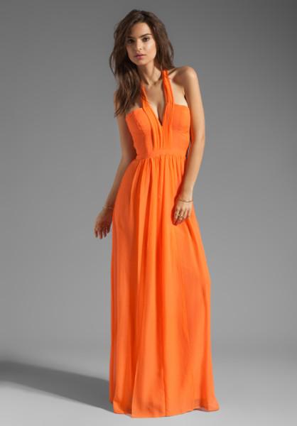 Maxi dress orange