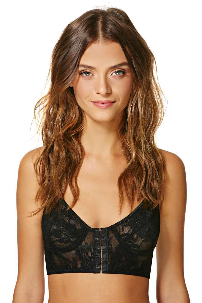 Nasty Gal Dark Angel Lace Longline Bra | Shop Bras   Bralettes at Nasty Gal