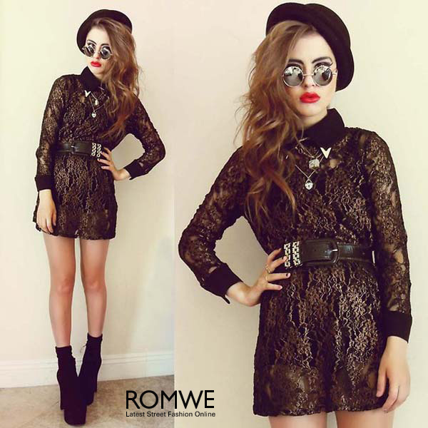 ROMWE | UV Protection Rounded Sunglasses, The Latest Street Fashion
