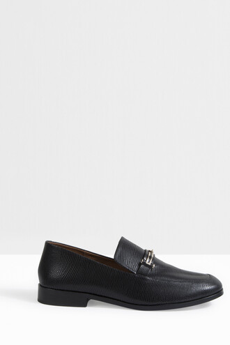 women loafers black shoes