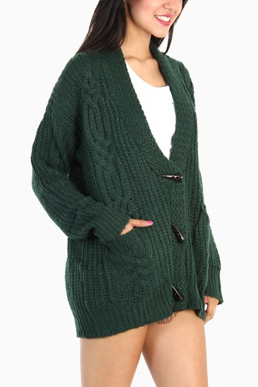 Omg oversized classic cable knit cardigan