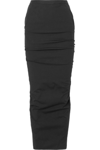 Rick Owens skirt maxi skirt maxi cotton black