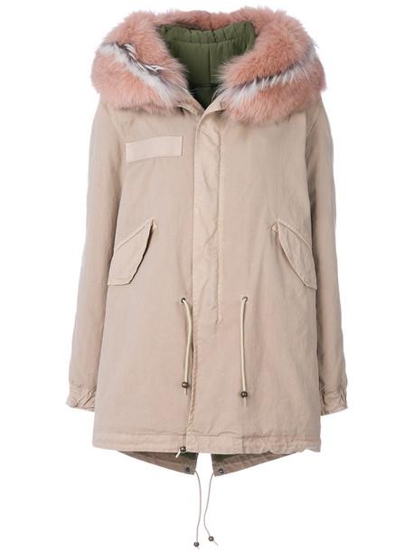 Mr & Mrs Italy parka fur women nude cotton coat