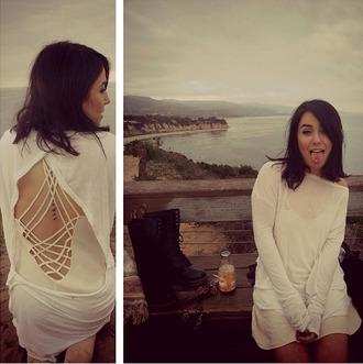 jacket blouse grunge drmartens beach light slip dress backless sweater strappy dress open back dress tattoo