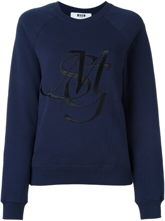 sweatshirt embroidered blue sweater