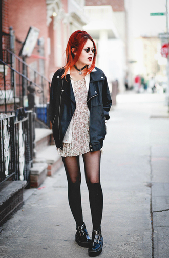 le happy blogger dress jacket shoes black black jacket