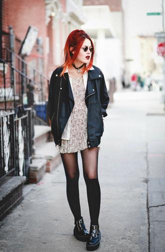 le happy blogger dress jacket shoes black black jacket