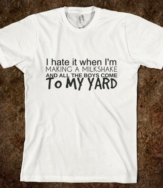 t-shirt milkshake guys the yard music