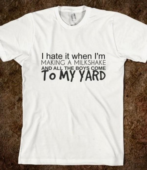 t-shirt milkshake guys the yard music