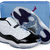 Jordan 11 Transparent Shoes Box Black/Concord-White Nike Men's Sneakers