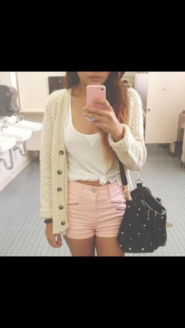 shorts cardigan