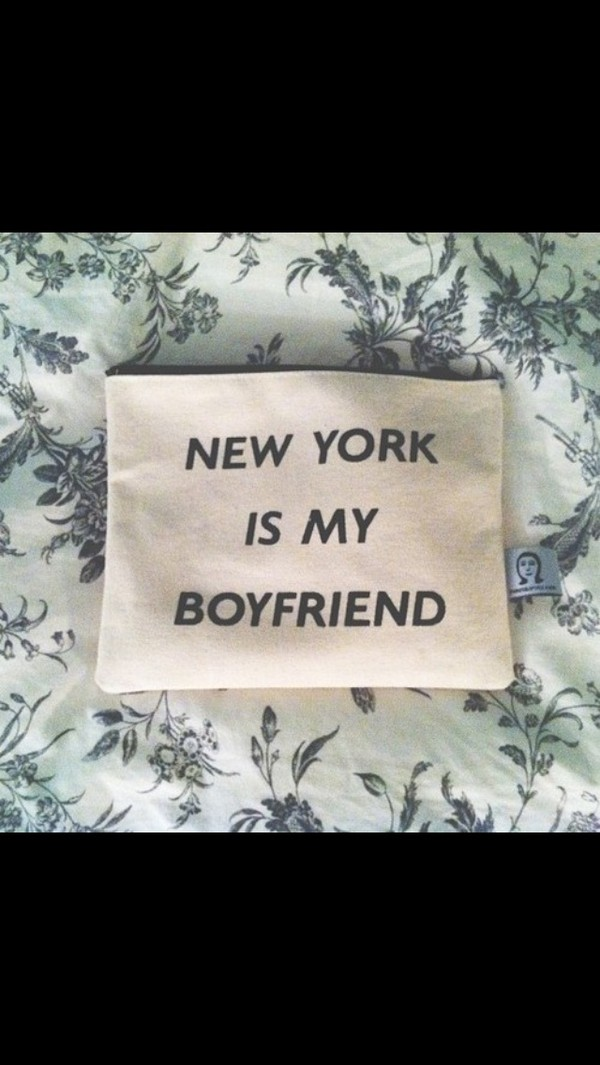 bag new york white small bag cluch