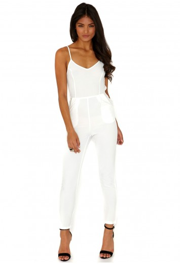 Drina Cage Back Jumpsuit  - Jumpsuits - Jumpsuits & Playsuits - Missguided
