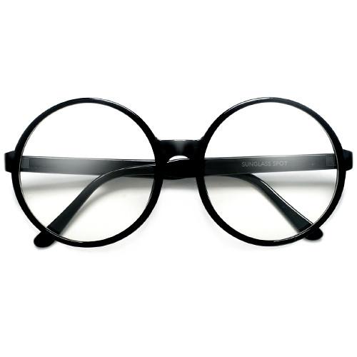 Super Oversized 69mm Round Boho Chic Clear Fashion Eyewear ...