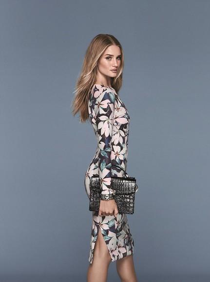 dress rosie huntington-whiteley floral