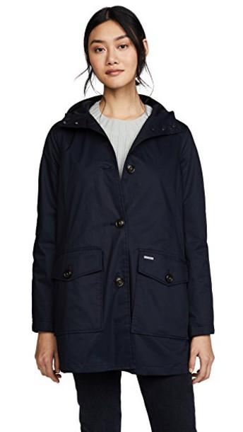 Woolrich parka summer dark navy coat
