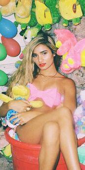 swimwear,bow,bow bikini,bow bandeau,pink,pink bow,bikini,beach,bow bikini top,swimwear two piece