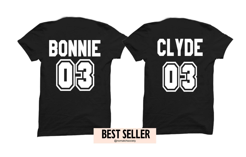 Bonnie Clyde Shirts Couples Shirts Boyfriend Girlfriend