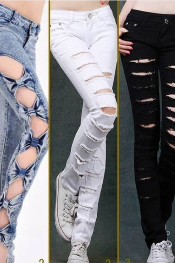 Women S White Skinny Jeans With Ripped Detail By Criminal
