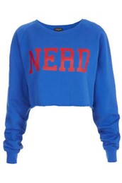 sweater,nerd,blue shirt,cute sweaters,funny sweater,trendy,hot,jacket,blue,sweatshirt