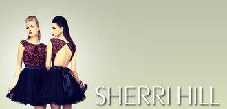 dress sherri hill girsl prom girl fashion black red red dress