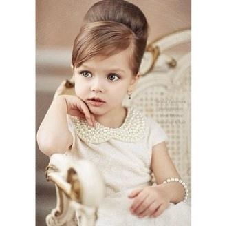 blouse pearl peter pan collar kids fashion classy bun cardigan dress