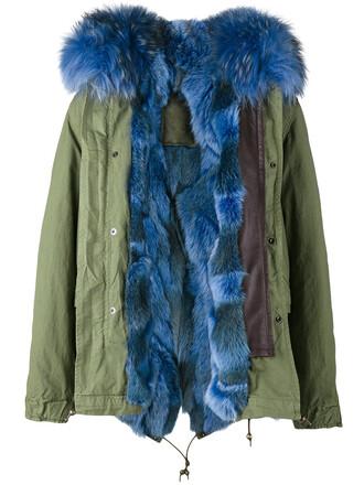 parka short women dog cotton green coat