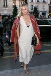 dress,midi dress,karlie kloss,model off-duty,streetstyle,fashion week