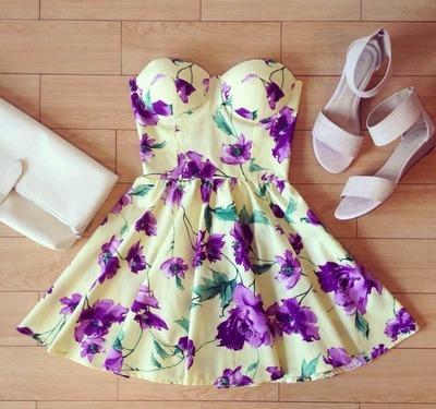 Yellow gardenia bustier dress · koalat fashion · online store powered by storenvy