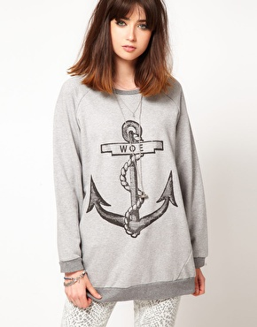 The Orphan's Arms | The Orphans Arms Woe Anchor Oversize Sweatshirt at ASOS