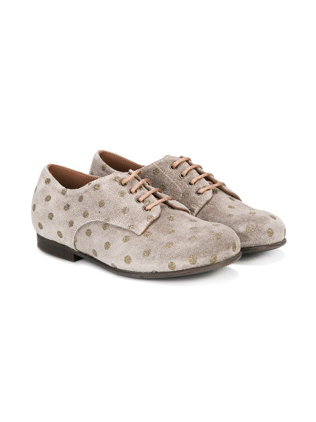 PePe polka dots leather suede grey shoes