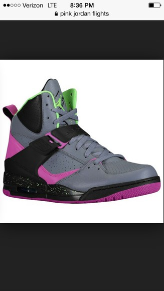cute green black shoes jordans gray purple flight jordans for girls