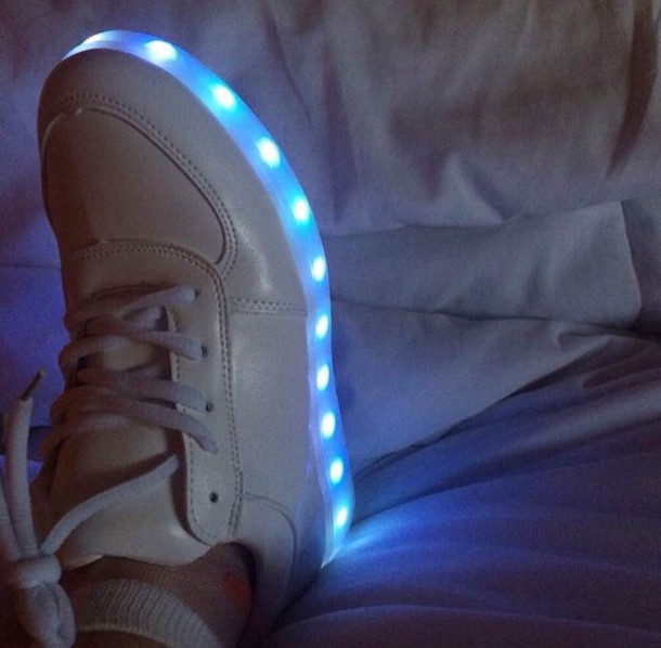 shoes white lights