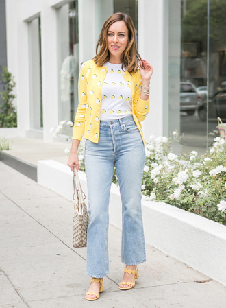 sydne summer's fashion reviews & style tips blogger cardigan top jeans jewels bag shoes
