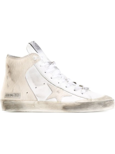 GOLDEN GOOSE DELUXE BRAND fur women sneakers leather white shoes