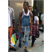 jumpsuit,mens,jeans,plaid,smoking,overalls,streetwear,tied shirt,cigarette