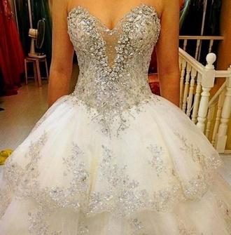 dress wedding dress wedding wedding clothes bling dress