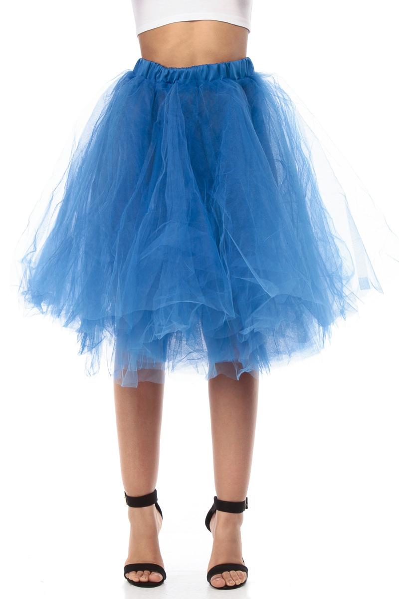 Royal blue fairy tulle skirt