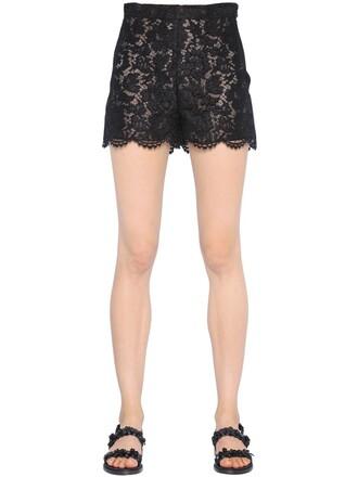 shorts lace shorts lace cotton black